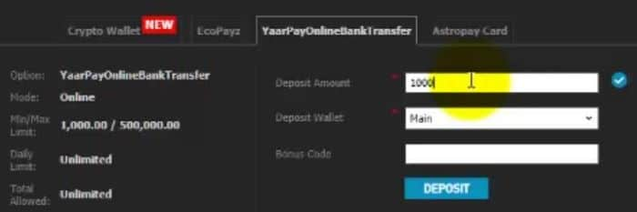 How to W88 deposit bank account - Online bank transfer India