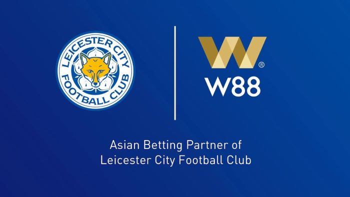 W88 Leicester City - 2018 to 2021 Official Betting Partners